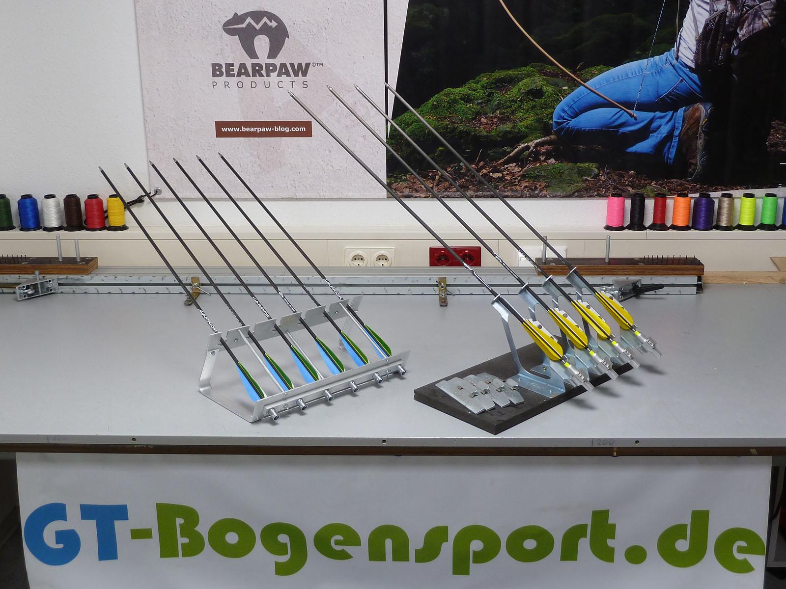 www.GT-Bogensport.de - Pfeile befiedern
